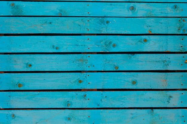 Текстура фона старой деревянной стены окрашены в синий цвет Premium Фотографии