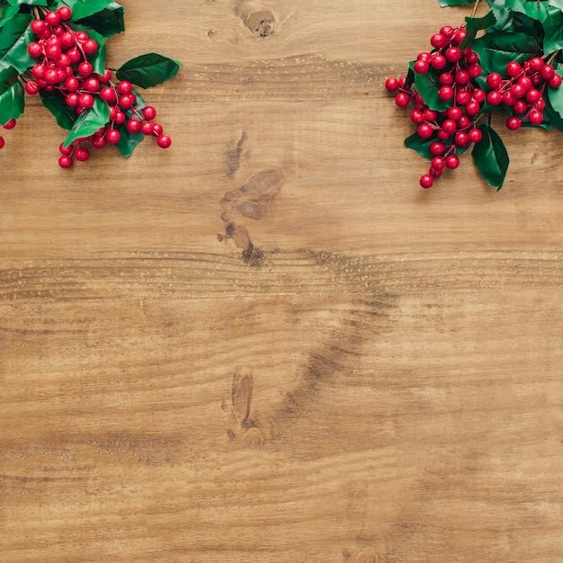 クリスマスの装飾の上にヤドリギと。 無料写真
