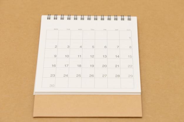 今月のカレンダー。 Premium写真