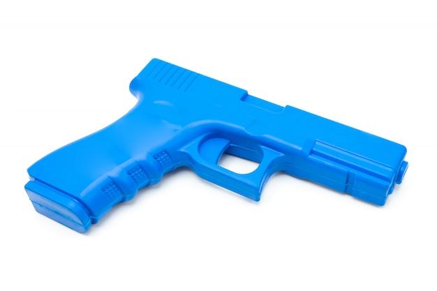 ゴム製の偽銃警察、兵士、警備員の訓練用 Premium写真
