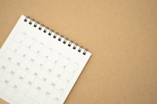 月のカレンダー。背景のビジネス概念と計画として使用 Premium写真