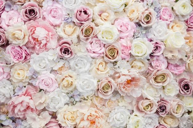 Красивые фоновые розы на день святого валентина Бесплатные Фотографии