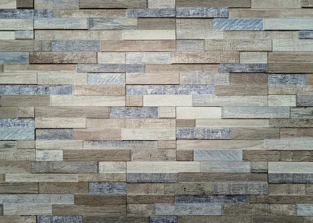 ベージュとブルーの色調でセメントレンガの壁 無料写真