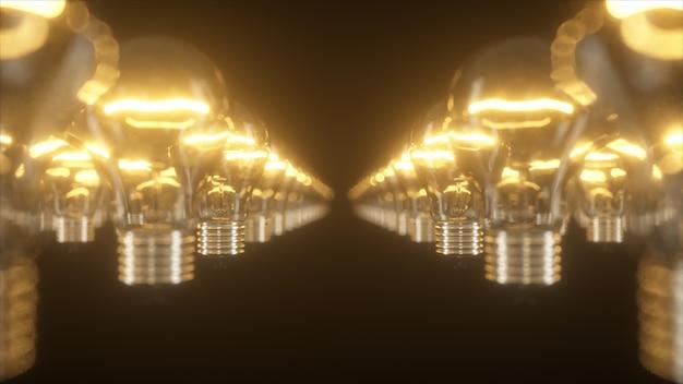点滅する白熱電球の表面 Premium写真