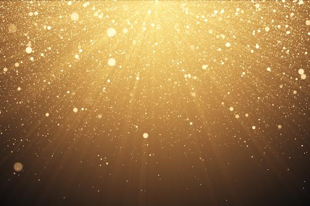 Золотой блеск фон с блестками Premium Фотографии
