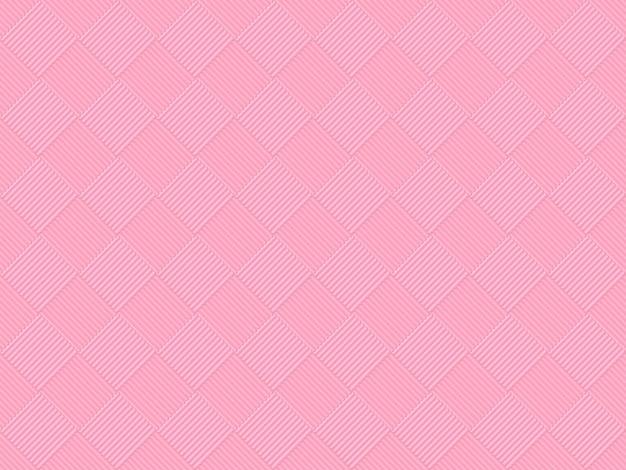 シームレスな甘い柔らかいピンク色トーングリッド正方形アートパターンタイルデザイン壁の背景。 Premium写真