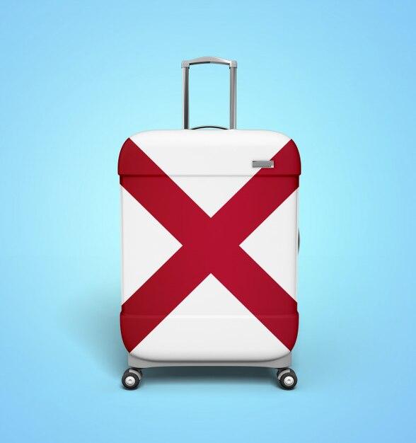 アラバマフラッグスーツケース - バケーション Premium写真