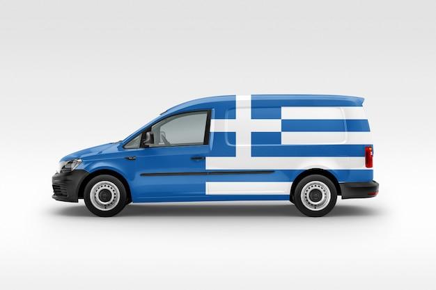 ヴァンにギリシャの国旗 Premium写真