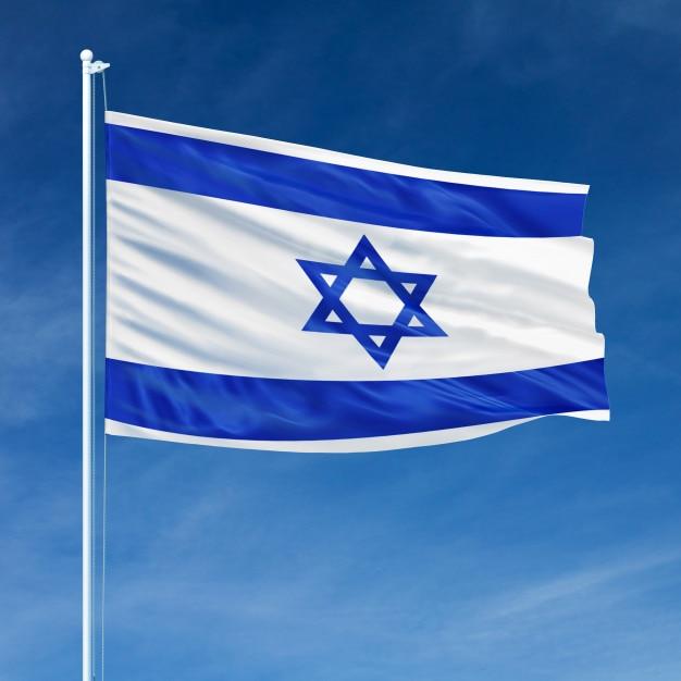 イスラエルのフラッグフライング Premium写真