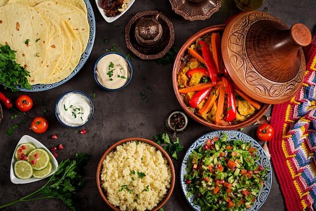 モロッコ料理 Premium写真