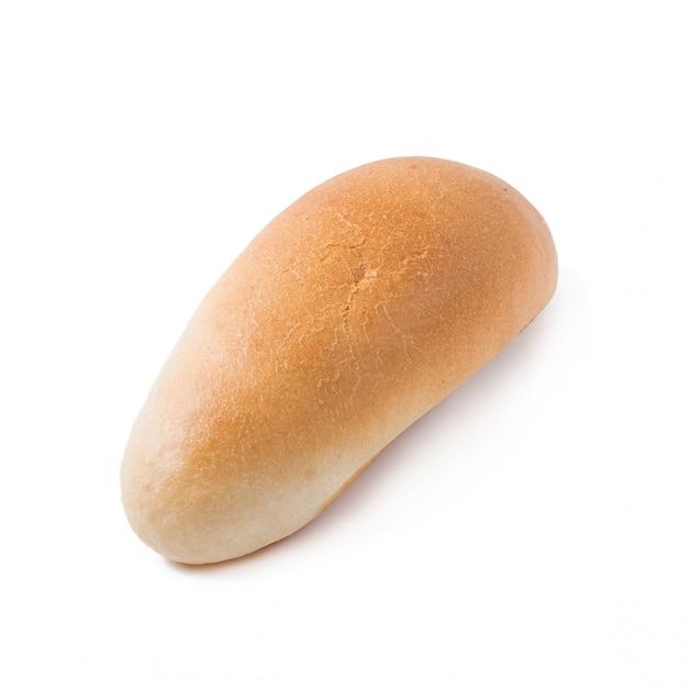 白い背景の上のホットドッグパン分離プロセス 無料写真