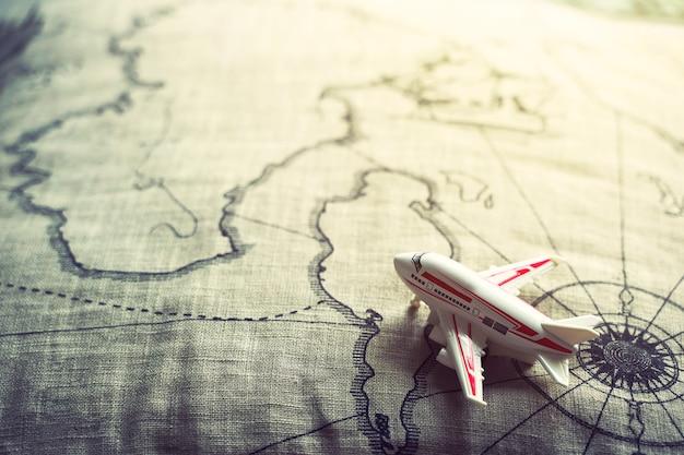 Концепция путешествия и транспорт фон Premium Фотографии