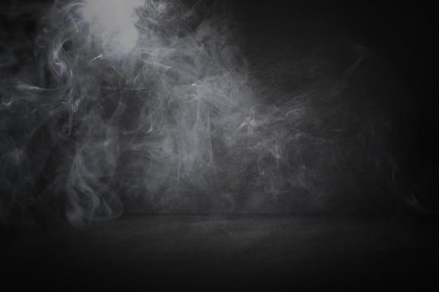 黒と黒板のスタジオとインテリアの背景 Premium写真