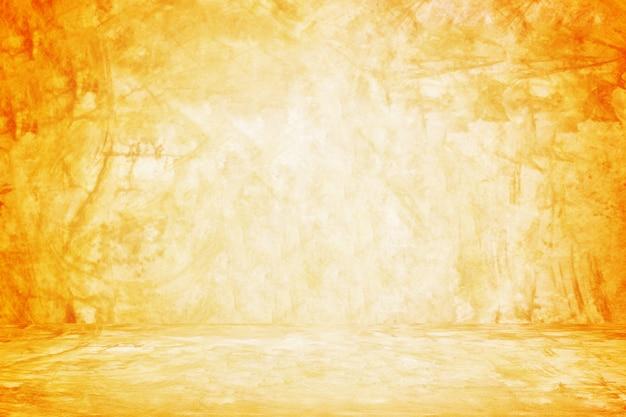 Оранжевый фон для стен и выставочного зала для презентационного продукта Premium Фотографии