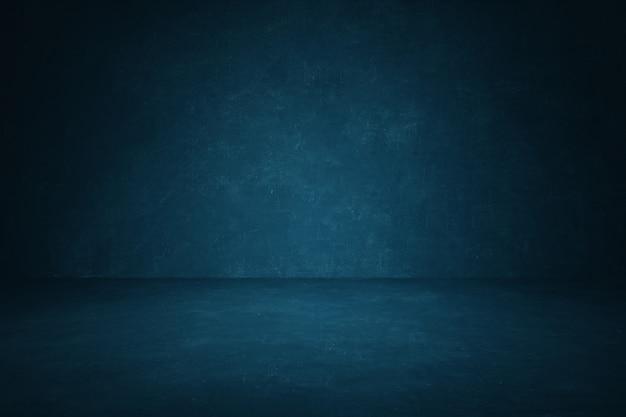ダークブルーの黒板壁スタジオの背景 Premium写真