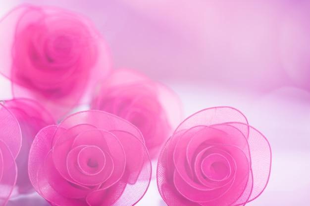 Красочная роза цветы ткань для фона Premium Фотографии
