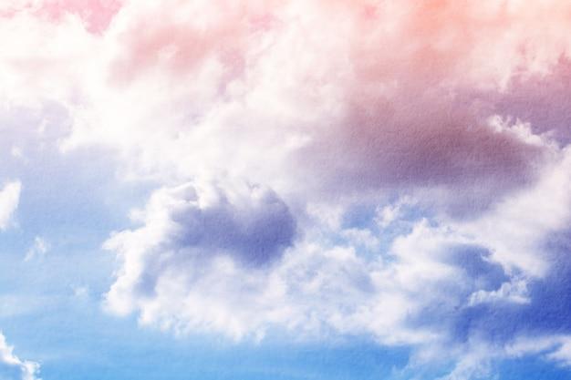 Фэнтези и винтажные динамическое облако и небо с гранж текстурой для фона аннотация Premium Фотографии