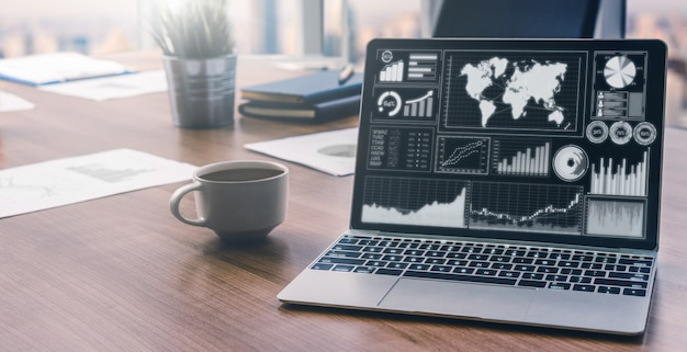 ビジネスと財務のためのデータ分析 Premium写真