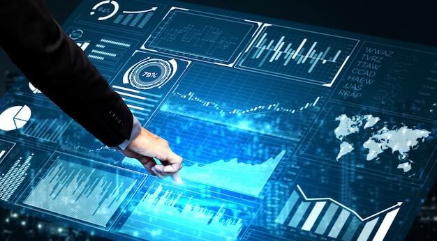 Технология больших данных для финансирования бизнеса Premium Фотографии