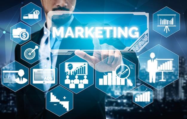 Маркетинг цифровой технологии бизнес-концепция Premium Фотографии