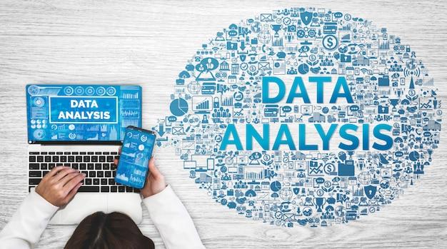 Анализ данных для бизнеса и финансов Premium Фотографии