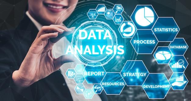 ビジネスと金融のデータ分析 Premium写真