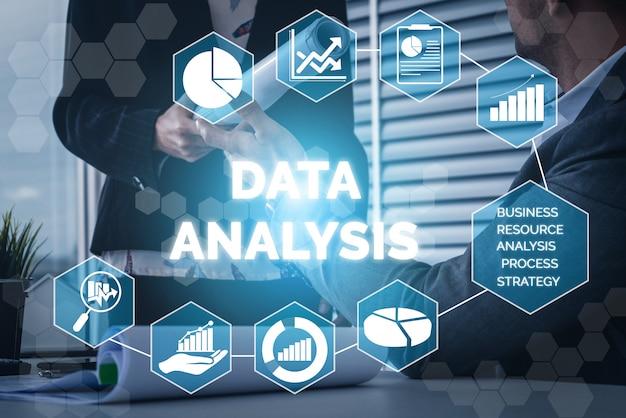 ビジネスと金融の概念のデータ分析 Premium写真