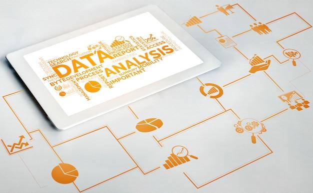 Анализ данных для бизнеса и финансовой концепции Premium Фотографии