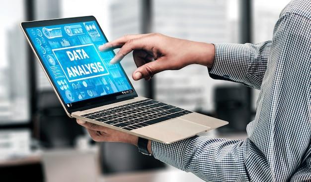 ビジネスおよび金融のデータ分析の背景 Premium写真