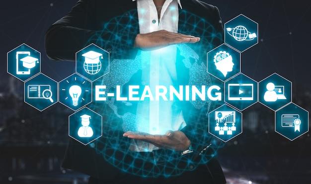 Электронное обучение для студентов и концепции университета Premium Фотографии