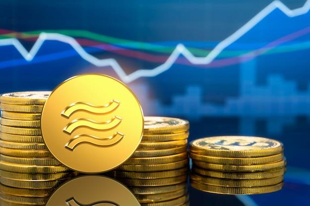 デジタルマネー経済における天秤座暗号通貨コイン Premium写真