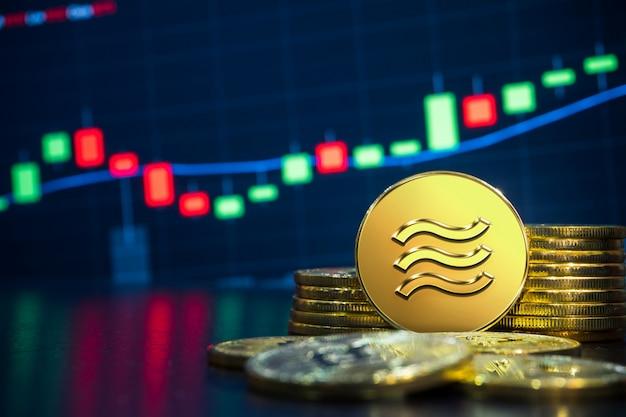 天秤座暗号通貨取引所のコンセプト Premium写真