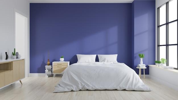 寝室のモダンなインテリア Premium写真