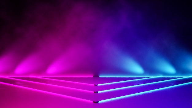 空の三角形ネオンライト Premium写真