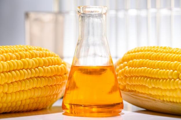 化学実験室の石油とバイオ燃料ソリューション Premium写真