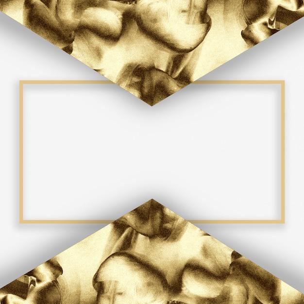 黄金の抽象的な最小限のテンプレートデザイン。 Premium写真