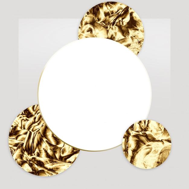 Золотой абстрактный минимальный дизайн шаблона. Premium Фотографии