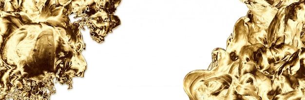 Золотой абстрактный минимальный дизайн шаблона. современный стиль творческая фотография. копировать пространство. Premium Фотографии