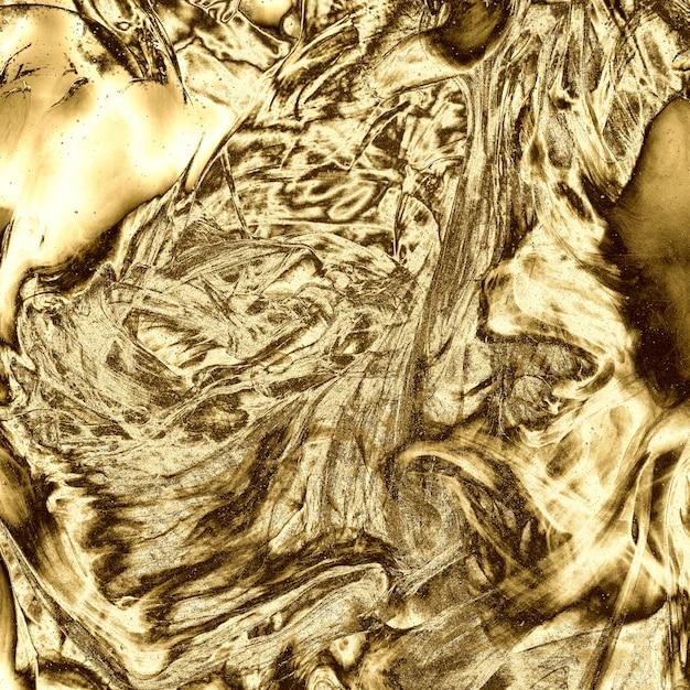 光沢のある金の金属液体テクスチャ背景 Premium写真