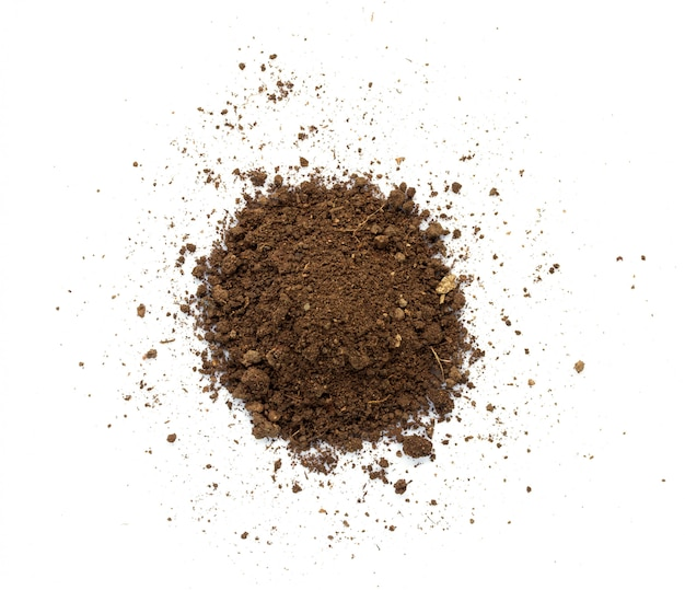 Грязная земля. естественная текстура почвы Premium Фотографии