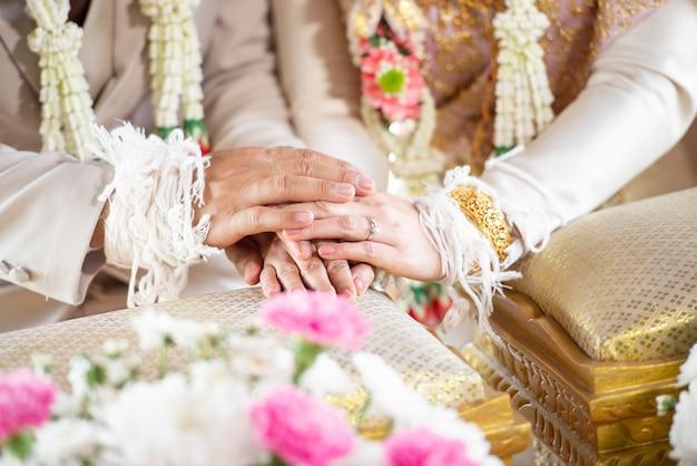 タイの伝統的な結婚式の装飾 Premium写真