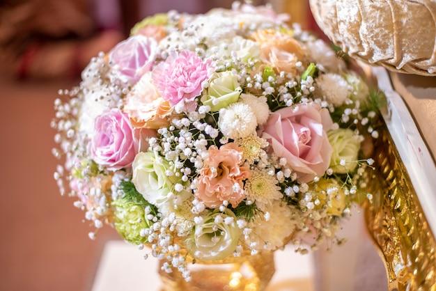 タイの結婚式の花と装飾 Premium写真