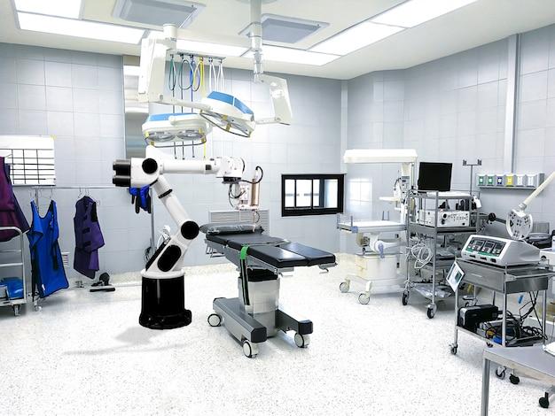 医療ロボットアーム技術人工知能患者治療 Premium写真