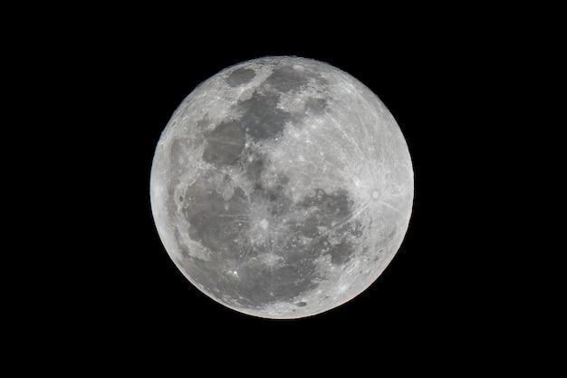 Закройте полную красивую луну Premium Фотографии