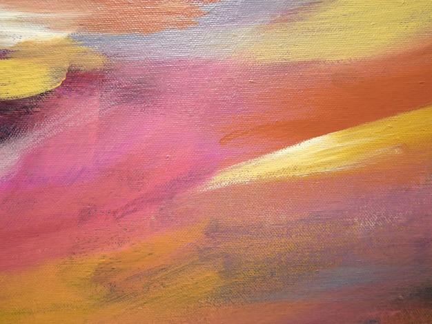 キャンバスの背景に抽象的なアクリル画。 Premium写真