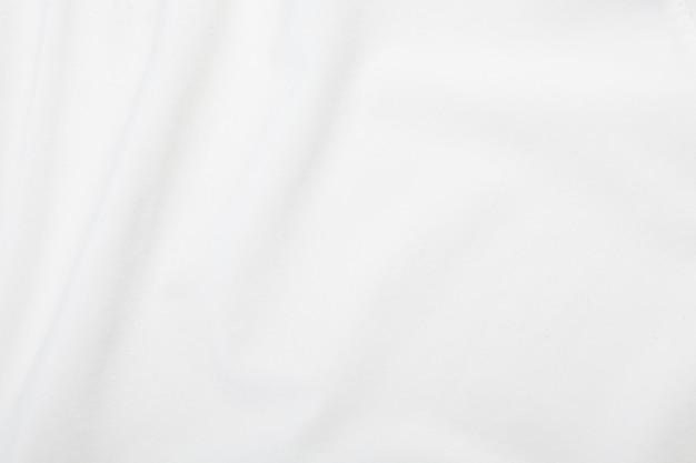 Текстура белой ткани, картина ткани. Premium Фотографии