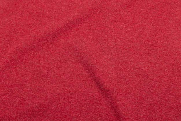 赤い布のテクスチャ、布パターン背景。 Premium写真