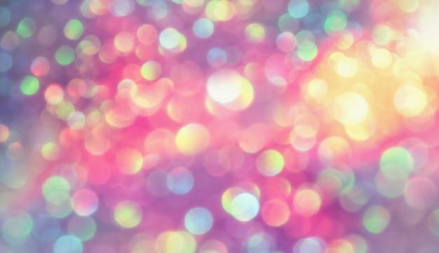 キラキラボケ照明効果誕生日、記念日、結婚式、大日、クリスマスのカラフルなぼやけた抽象的な背景 Premium写真