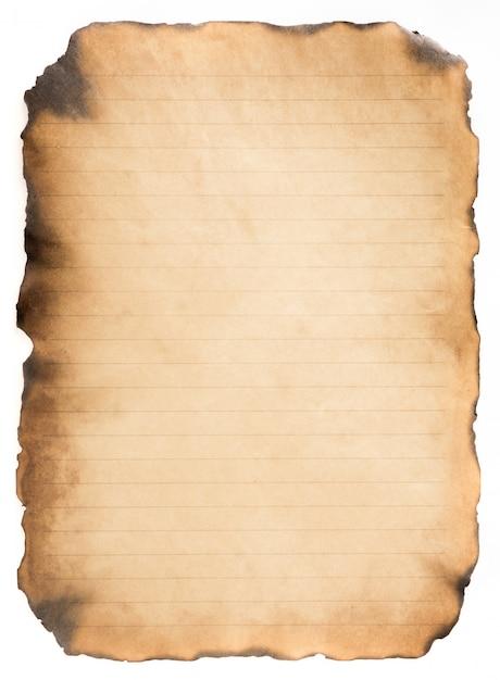 古い紙ヴィンテージ高齢者や白い背景の上のテクスチャ Premium写真