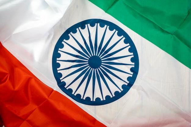 Празднование дня независимости индии флаг индии Premium Фотографии